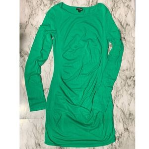 Express Midi Green Bodycon long sleeve dress sz S
